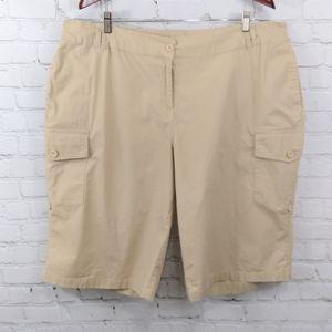 Ellos khaki adjustable cargo shorts